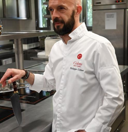 A portrait of Philippe Colinet, Michelin-starred chef of the Restaurant Colette